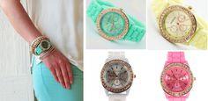 Geneva Quartz Watch - I want the mint one!