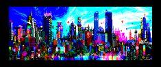 ZX Cosmopolis - Retro  ZX Spectrum 8-bit pixel art  http://zxart.ee/eng/graphics/