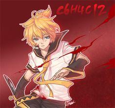 Image result for knife rin len miku