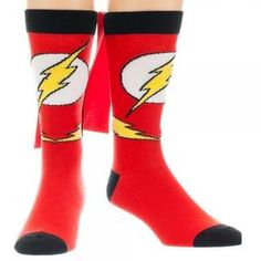 DC Comics Flash Cape Crew Socks