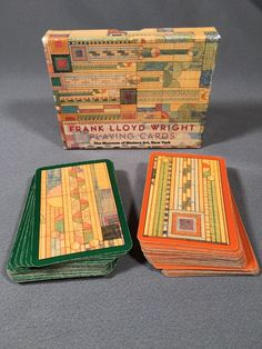 Frank Lloyd Wright Playing Cards- 2 Decks In Box Museum Of Modern Art New York #FrankLLoydWright
