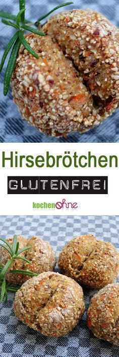 Gluten-free baking: These gluten-free bread rolls are especially tasty millet roast .- Glutenfrei Backen: Diese glutenfreien Brötchen sind besonders leckere Hirsebrö… Gluten-free baking: These gluten-free bread rolls are … - Gluten Free Rolls, Gluten Free Baking, Vegan Gluten Free, Gluten Free Recipes, Vegan Recipes, Bread Recipes, Pain Au Millet, Bagels Sans Gluten, Pains Sans Gluten