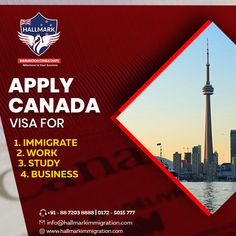 Want to apply for a Canada visa?  Visit Hallmark immigration to get your Canada visa for: >immigration >Work >Study >Business  #hallmark #hallmarkimmigration #immigrationconsultants #immigration #visaconsultants #visa #Canada #visaforcanada #canadavisa #studyincanada #workincanada #businessvisa #workvisa #studyvisa #onlinebooking #onlineservices #canadapr #students #immigrants Visa Canada, Business Visa, Work Visa, How To Apply, How To Get, Students, Study, Visa For Canada, Studio