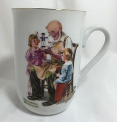 The-Toymaker-Vintage-1982-Norman-Rockwell-Coffee-Cup-Tea-Mug-Museum-Decorative