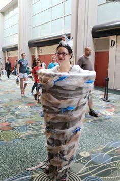Woman cosplayed as Sharknado at the Salt Lake Comic-Con; I have no words.