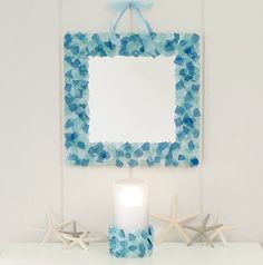 LL Bean-inspired sea-glass mirror | Desert Drivel