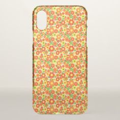 Orange Yellow Beautiful Love Flowers Print IPhone X Case