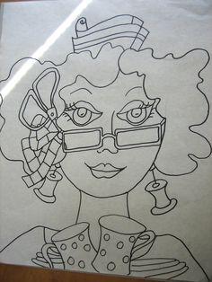 https://flic.kr/p/afgHTe | The drawing  #3 in Ladies Series