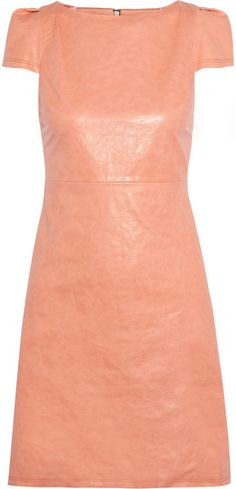 Alice + Olivia Leather Dress in Pink | Lyst