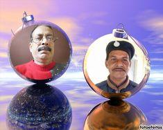 montagem divertido de Natal onde você pode colocar duas fotos nas bolas de Natal. Ideal para ser enviada como uma saudação de nadal. - fotoefeitos.com Happy Diwali Pictures, Captain Hat, Christmas Baubles, Collages, Hilarious, Pictures