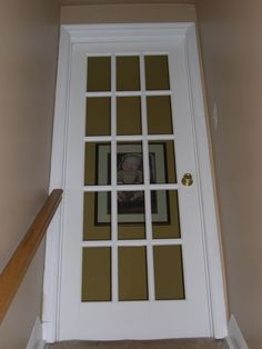 Single French door between mud room and kitchen. Same door from dining area to deck.