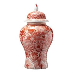 THE WELL APPOINTED HOUSE - Dragon Coral Covered Porcelain Temple Jar
