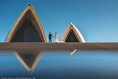 The best photos from the contest were snapped at famous landmarks such as the Sydney Opera...