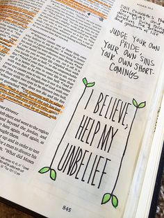 """Bible Journaling. She uses Sharpie (no bleed) markers, Twisters Crayola pencils, micro-pens, in a """"journaling Bible."""" Which I'd never heard of. How cool is this?!"""