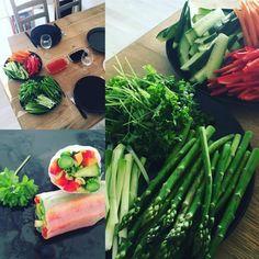"""Rispapir er meget populært, og er et super godt og sundere alternativ til """"forårsruller"""" lavet af butterdej. Det er rigtig kendt fra det Vietnametiske køkken,"""