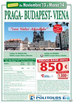 PRAGA-Budapest-Viena, sal. del 12/01 al 31/03/14 dsd Mad y Bcn (8d/7n) p.f. 1.000€ valor añadido ultimo minuto - http://zocotours.com/praga-budapest-viena-sal-del-1201-al-310314-dsd-mad-y-bcn-8d7n-p-f-1-000e-valor-anadido-ultimo-minuto-2/