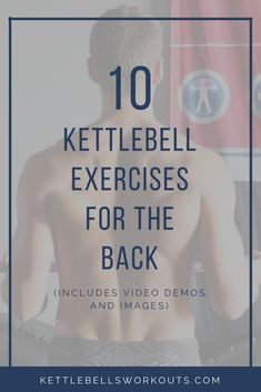 10 Kettlebell Exercises for building and developing a stronger and more attractive back. Also included are images and videos so you can get your technique right. #kettlebell #kettlebellworkout #exercise #fitness Kettlebell Back Exercises, Kettlebell Benefits, Kettlebell Circuit, Kettlebell Training, Body Workouts, Circuit Training, Back Fat Workout, Hard Workout, Yoga