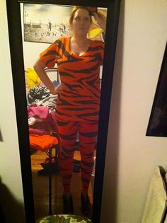 Happy halloween diy costume style sisters marie blog pinterest diy tiger costume solutioingenieria Images
