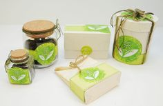 love the bright green and twine used on this green #tea #packaging