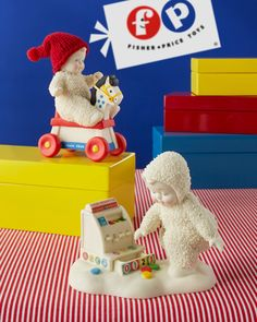 A trip down Memory lane... Remember those Fisher-Price® toys you used to play with? They were so amazingly simple and fun. Snowbabies capture that joy and magic of child's play. Shop 24/7 http://shop.department56.com/c/snowbabies_guest-collection_fisher-price