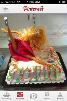 BACHELORETTE party cake! Funny ha