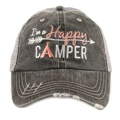 fb8e10e8 Hat OR Shirt {I'm a happy camper} 2 choices. Gray or white. Hat also  available in 5 colors