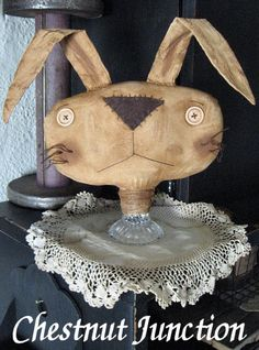 Rabbit Make Do EPATTERN...primitive easter por ChestnutJunction
