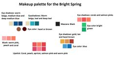 Bright Spring makeup palette