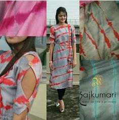 Wide selection of latest designer kurtas, they are a combination of unique designs with colour coordinating kurti sets. Churidar Designs, Kurti Neck Designs, Dress Neck Designs, Blouse Designs, Kurti Sleeves Design, Sleeves Designs For Dresses, Sleeve Designs For Kurtis, Kurti Patterns, Dress Patterns