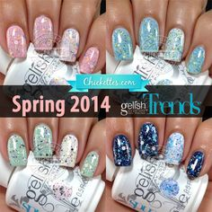 Spring 2014 Gelish Trends at Chickettes.com