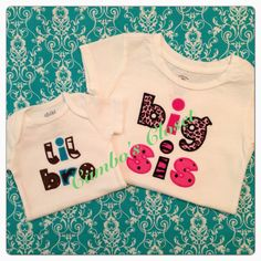 Sibling shirts for your little ones. Email camboscloset@gmail.com to order or inquire.
