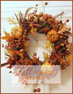 Here at StoneGable the change of season gives me a reason to create a new wreath. I love the saturated color of fall… the warm hues and the wonderful textures! This wreath is overflowing with autumnal abundance! It's really quite easy to make a big full FALL PUMPKIN WREATH… I'll show you step by …