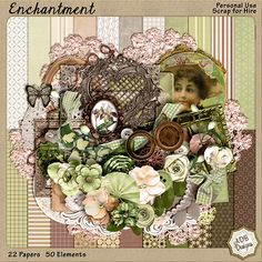 #Enchantment Page Kit by #ADBDesigns.  These colors are amazing and love those elements.