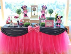 """Minnie Mouse / Birthday """"Alivia turns 1"""" 