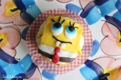I love Spongebob Squarepants and would come home each afternoon to watch each program. Childish fun with some adult humour is how i viewed the… Paleo Cupcakes, Baking Cupcakes, Vanilla Cupcakes, Cupcake Recipes For Kids, Easy Cake Recipes, Dessert Recipes, Sweet Bread Loaf Recipe, Sponge Bob Cupcakes, Cream Filled Cupcakes