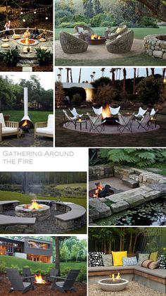 around the firepit