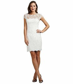 Bought an alternate dress, in case my dress doesn't survive cleaning. I've tried the 6, ordered an 8 to be delivered :) Adrianna Papell Lace Sheath Dress #Dillards