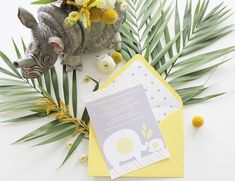 Gray & Yellow Safari Baby Shower - Inspired By This-cute invitations!