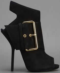 Giuseppe Zanotti Leather Cutout Ankle Boots with Buckled Detail