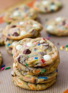 Cake-Batter Chocolate Chip Cookies: A guaranteed kid-pleaser, Sally's Baking Addiction's supermoist cake-batter chocolate chip cookies are loaded with white- and semisweet-chocolate chips and sprinkles.