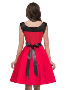 Women Vintage Rockabilly Retro Dress for Party Cocktail Red | Amazon.com