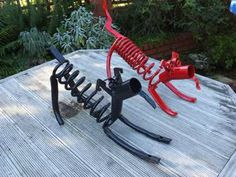 scrap steel garden art - Google Search