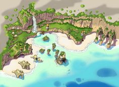 Jak and Daxter Sentinel Beach map