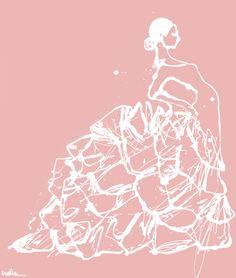 flamenco skirt Art Print