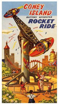 Coney Island Rocket Ride  1950's Japan.