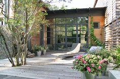 Quakenbush House Patio in Amagansett, New York, by Alex Scott Porter Design