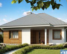 Proiect-de-casa-mica-Parter-64011-1 One Storey House, Good House, Design Case, Open Concept, Home Fashion, Gazebo, Architecture Design, House Plans, Home And Garden
