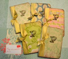 Pretty journals made from composition books.