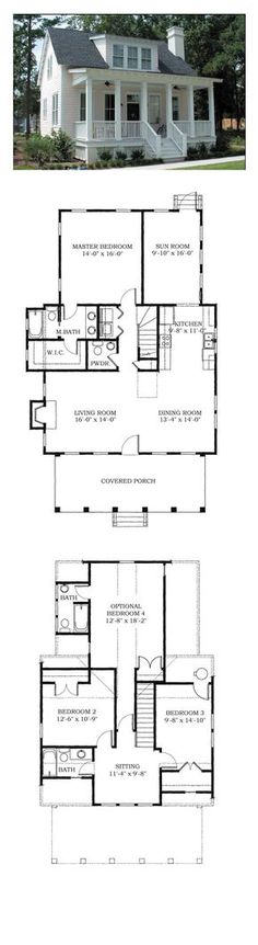 COOL House Plan ID: chp-38703 | Total Living Area: 1783 sq. ft., 4 bedrooms and 3.5 bathrooms. #houseplan #carolinahome: