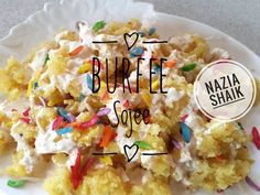 Burfee Sojee recipe by Nazia Shaik posted on 21 Jan 2017 . Recipe has a rating of by 3 members and the recipe belongs in the Indian Sweet Starters recipes category Indian Dessert Recipes, Indian Sweets, Ethnic Recipes, Indian Recipes, Soji Recipe, Veggie Bites, Diwali Food, Food Categories, New Recipes